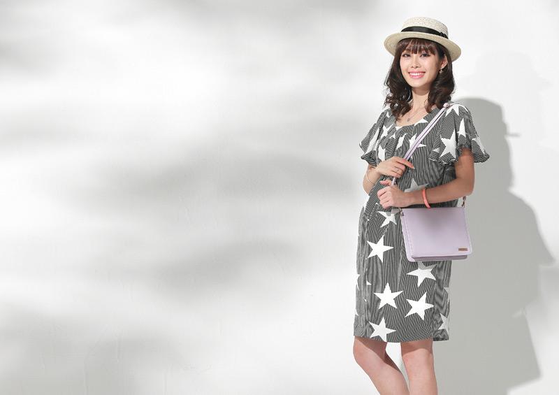 星柄授乳服ワンピースのイメージ画像