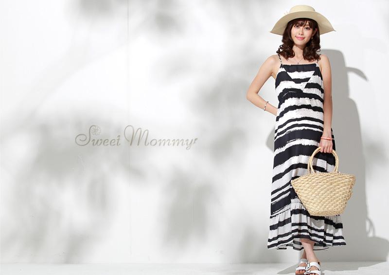 授乳服マキシワンピースのイメージ画像