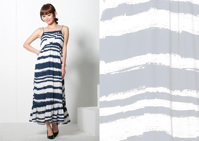 授乳服マキシワンピースのネイビーイメージ画像