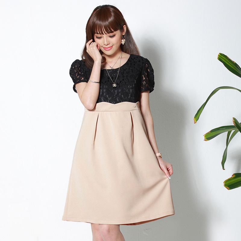 キュートなデティールのマタニティウェアドレス