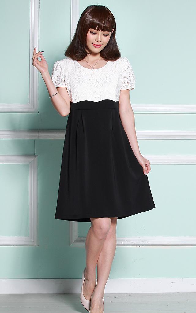 大人かわいい授乳服ドレス