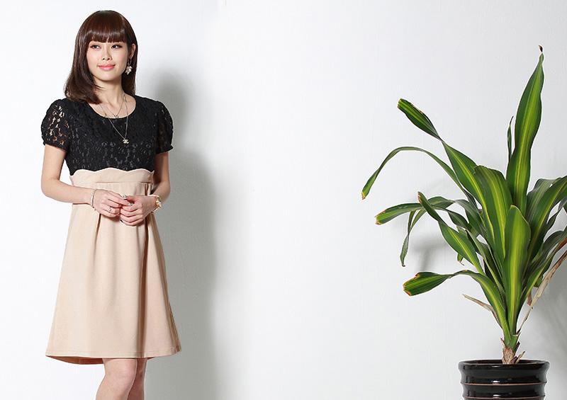 産前から産後まで長く使える授乳服ドレス