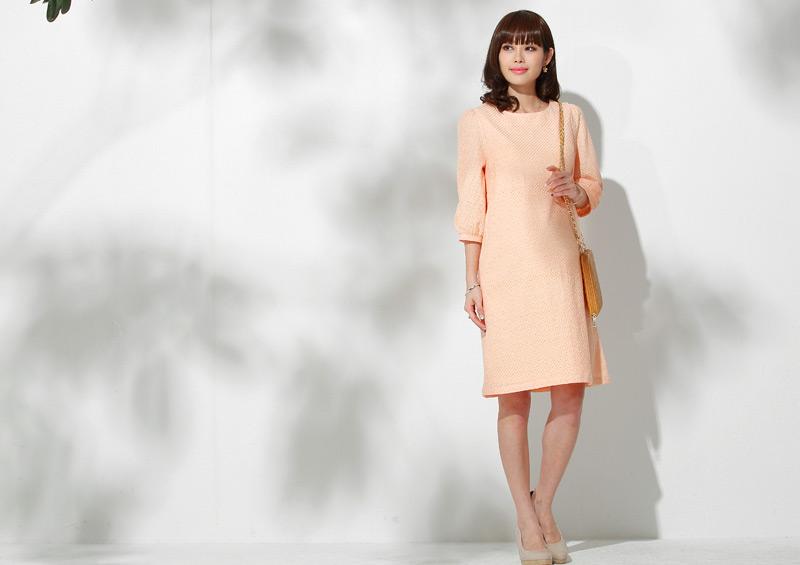 Aラインがきれいな授乳服ワンピース