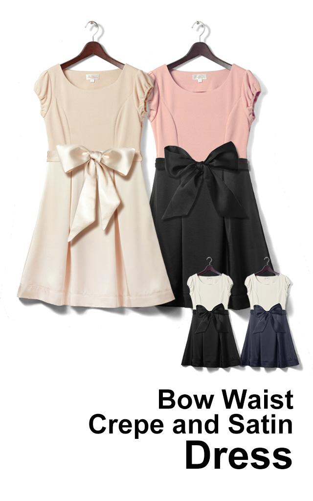 上品なバイカラ-で視線を独り占めな授乳服ドレス