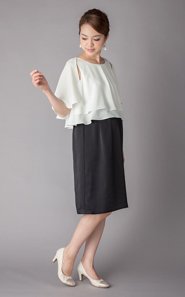 着回し力の高い肩2WAYの授乳服ドレス