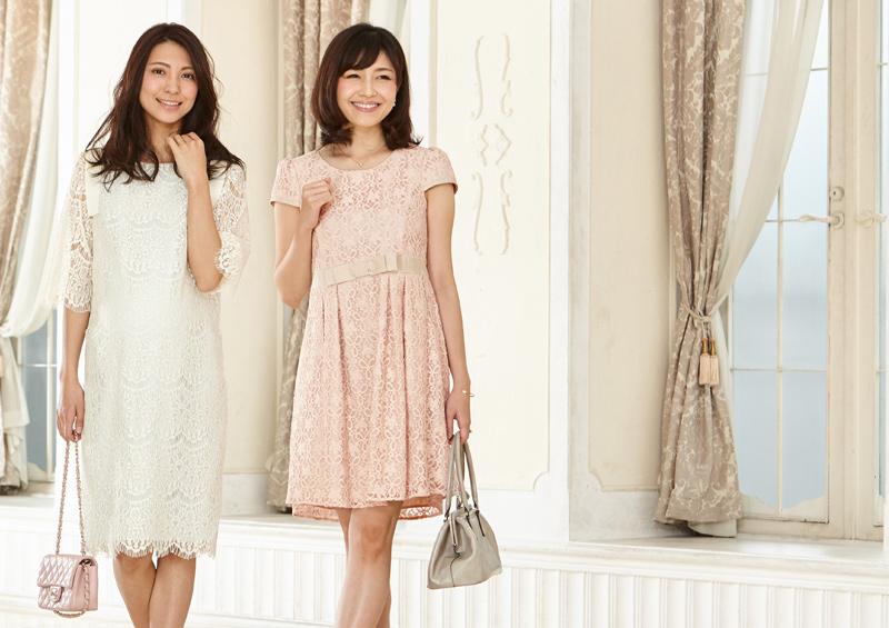 結婚式やお宮参りなど、華やかな場所にもぴったりの授乳服ドレス