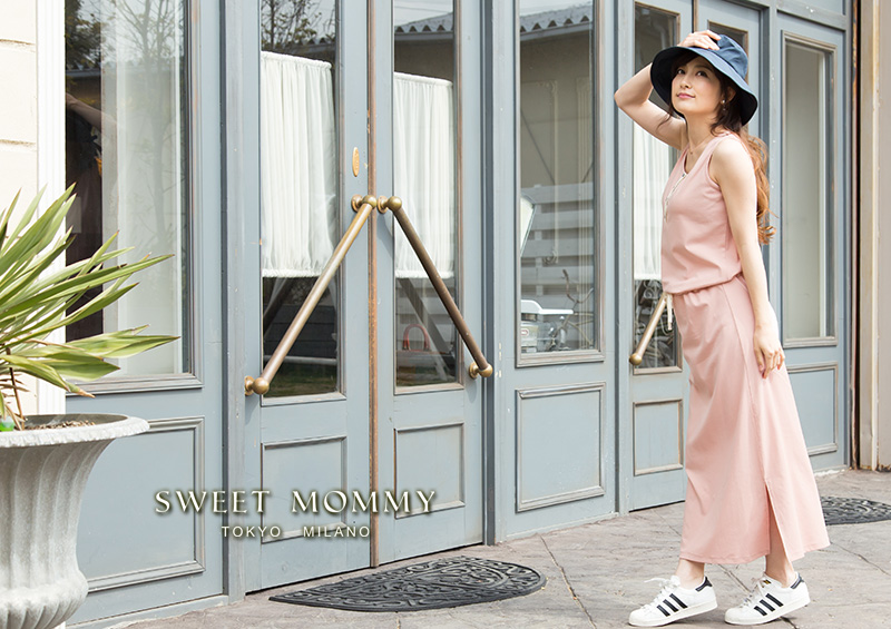 授乳服とマタニティウェアのスウィートマミーがおすすめするおしゃれなカジュアルマキシワンピ