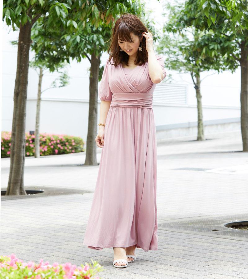 リアル授乳ママのおでかけコーディネート ピンク着用