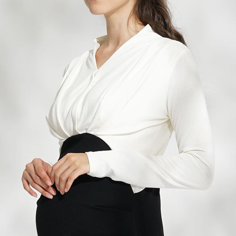 着心地のいい素材感がうれしい授乳服