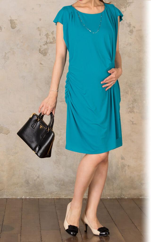 産後も美しくご着用いただける授乳服ドレス