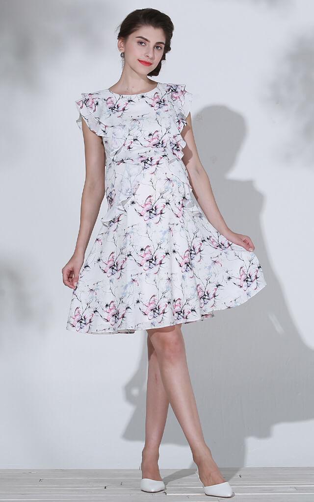 マタニティモデル ピンク着用全身イメージ
