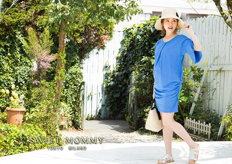 授乳服とマタニティウェアのスウィートマミーがおすすめするベルスリーブが旬の授乳服チュニック