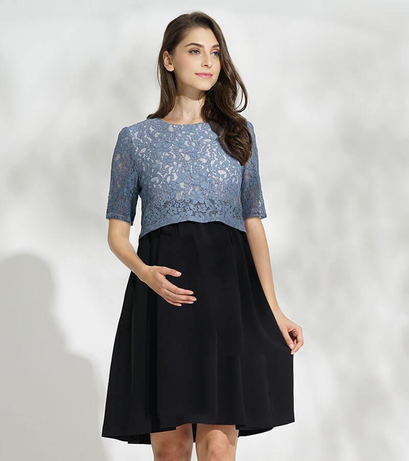 華やかで着やすい授乳服ドレス