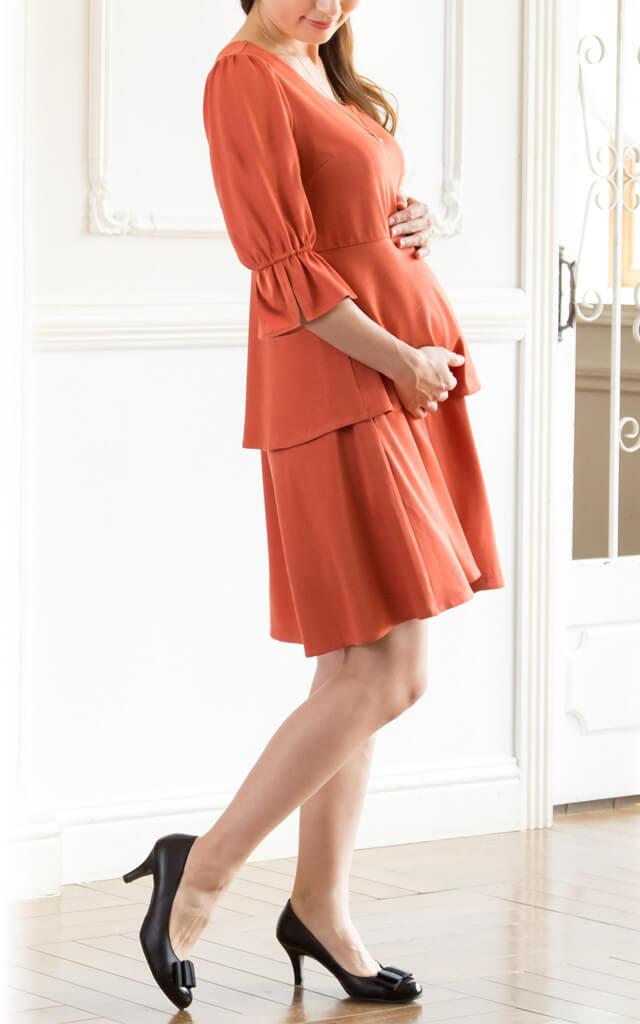 妊娠中からおすすめの授乳服ワンピース