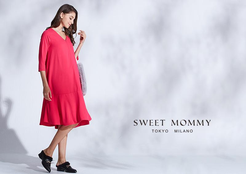 マタニティウェアと授乳服のスウィートマミーおすすめのおでかけ主役ワンピ