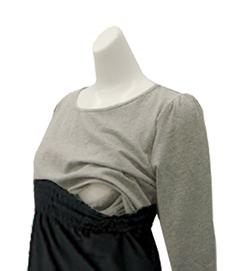 ベアトップサロペット&授乳機能付きTシャツ(2点セット) 授乳服 オールインワン[sp0258]
