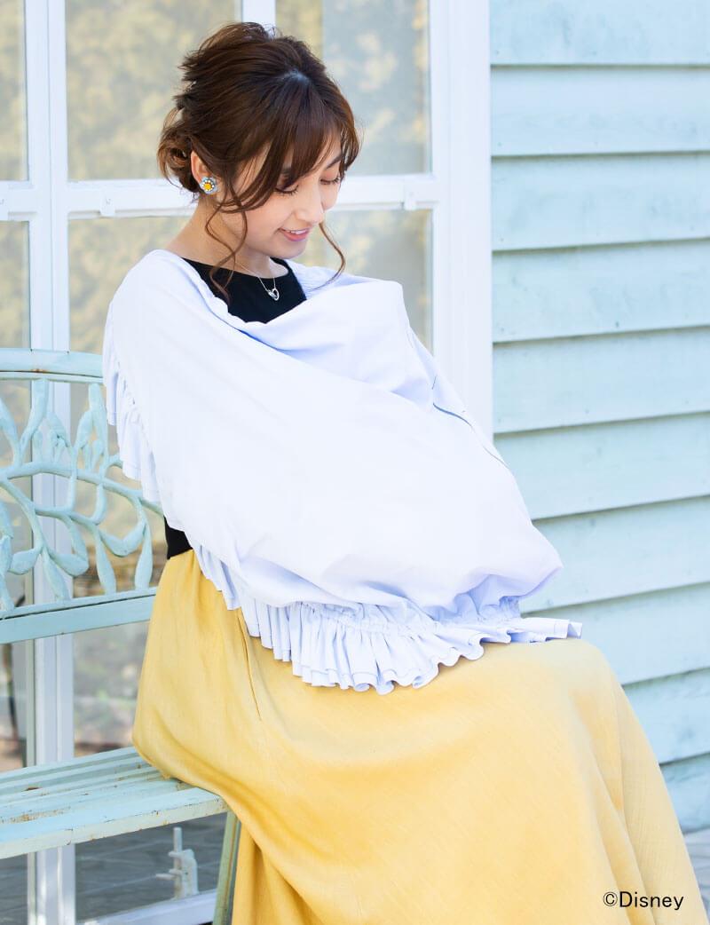 すっぽり赤ちゃんを覆って安心