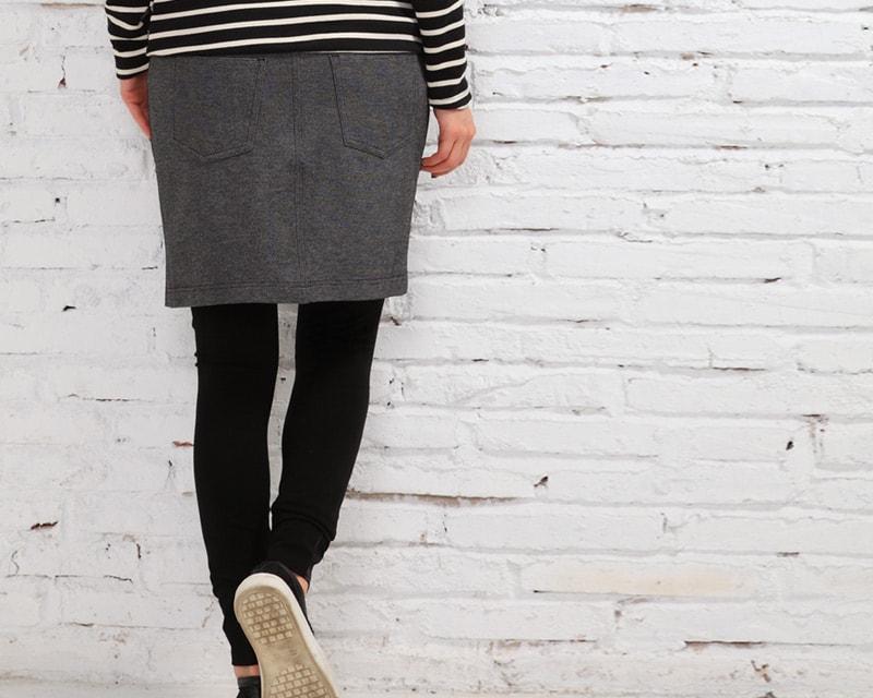 産前産後兼用レギンス付きスカート