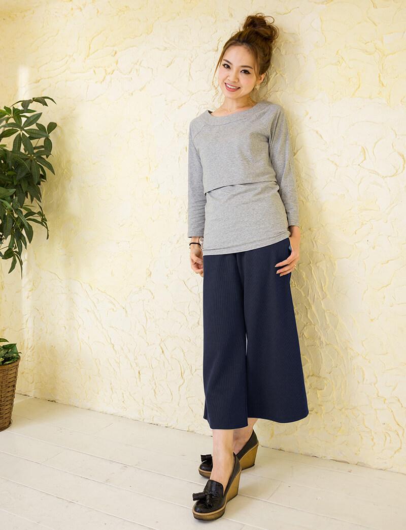 普通身幅とマタニティ幅の着用比較