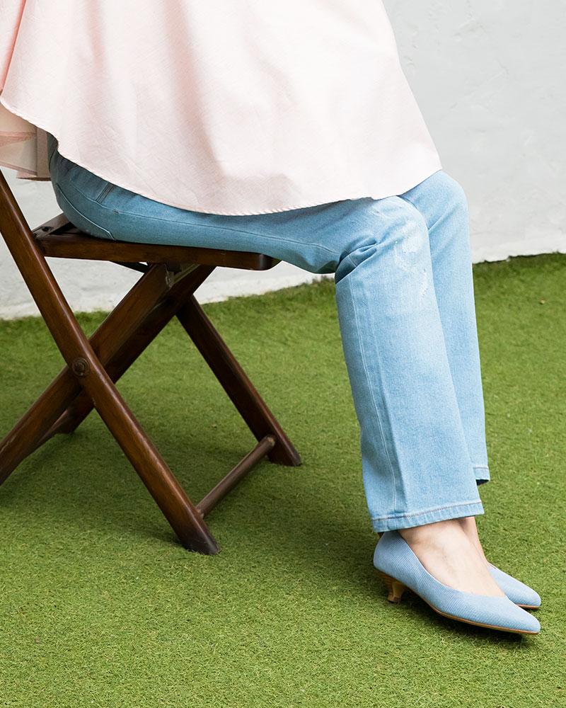 座っても形が崩れずキレイ
