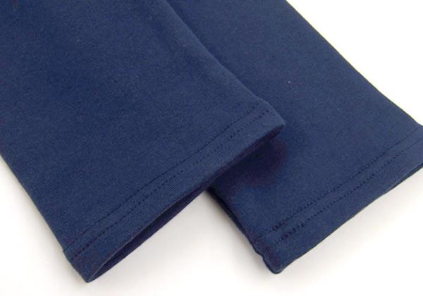 タニティレギンス、2本針で上部。丁寧な縫いしろの説明画像