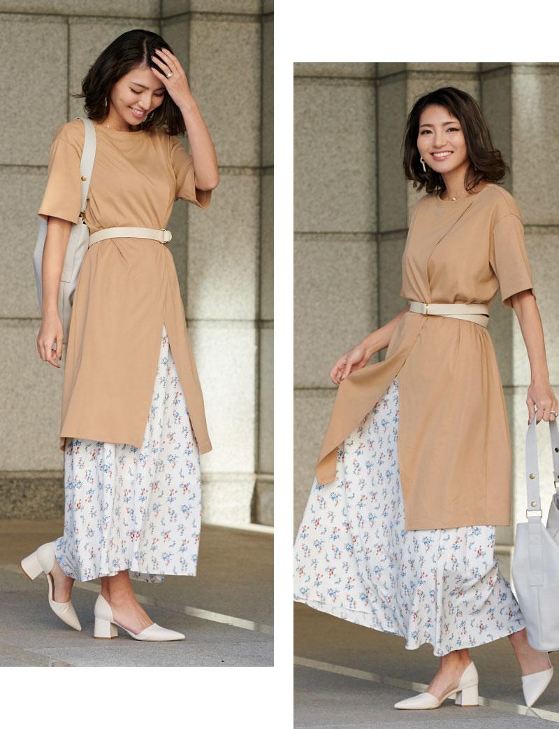 着回しアレンジの効く春夏のスカート