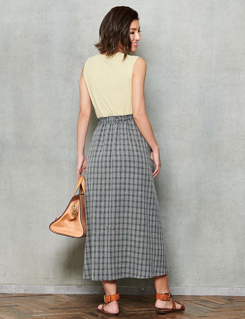 マタニティロングスカート バックスタイル