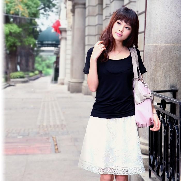オーガンジー フラワー刺繍スカート マタニティ マタニティスカート
