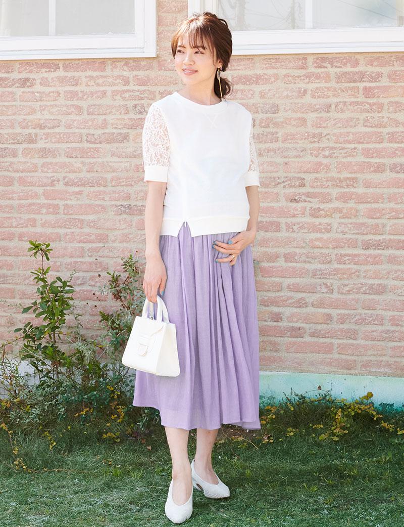 人気読者モデル春名亜美ちゃん着用のマタニティスカート