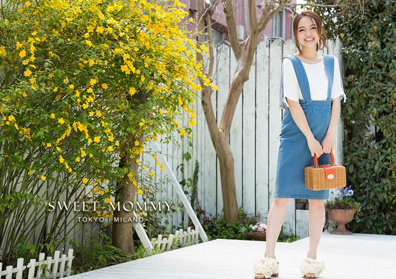 sweetmommyの2WAYニットデニム ジャンパータイトスカート