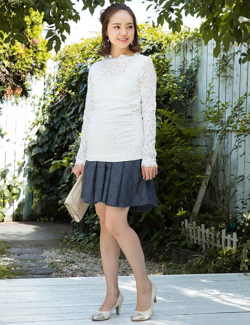 妊娠中も産後も綺麗に着られるマタニティスカート