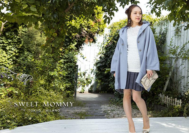 授乳服とマタニティウェアのスウィートマミーがおすすめするチェック柄マタニティスカート