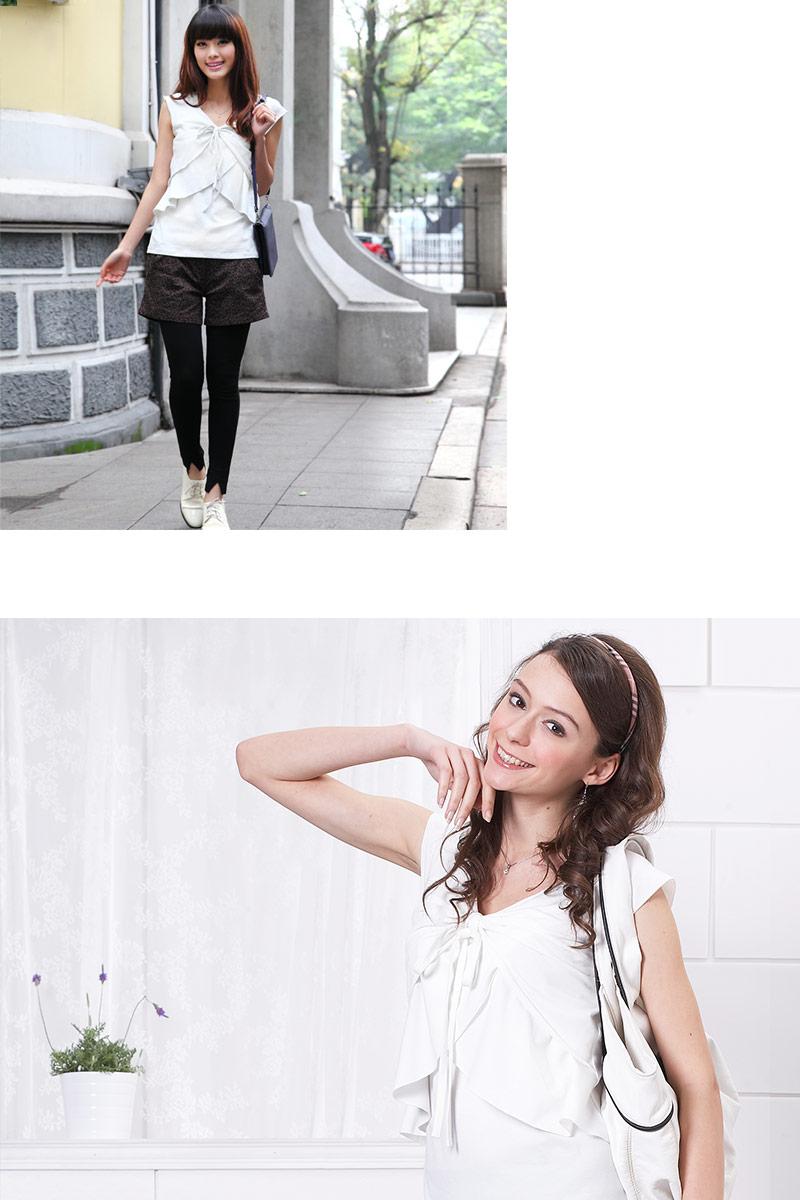 ホワイト授乳トップス着用イメージ