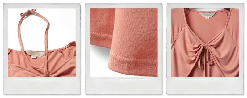 細部拡大 リボン 裾