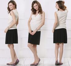 お肌に優しい天然繊維 オーガニックコットン100% 授乳インナー(パッド付きタンクトップ) 授乳服&マタニティウェア[st0298]