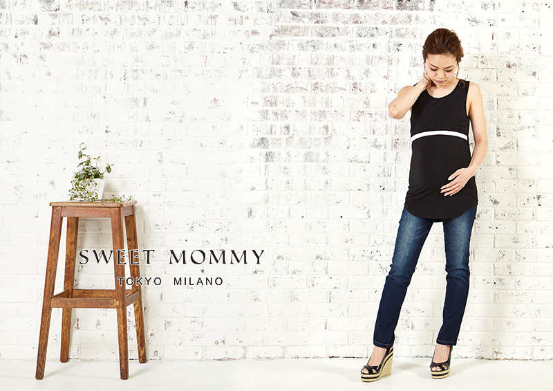 授乳服とマタニティウェアのスウィートマミーがおすすめするシンプル授乳服タンクトップ