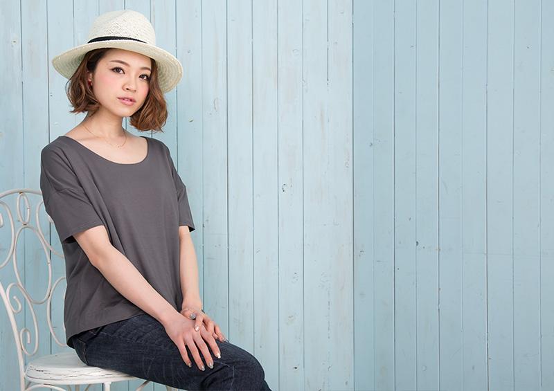 授乳服ドルマンTシャツのボトムコーデ