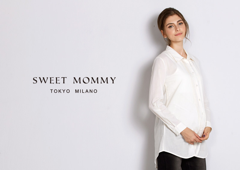 授乳服とマタニティウェアのスウィートマミーがおすすめするシンプルデザインの授乳服シャツ