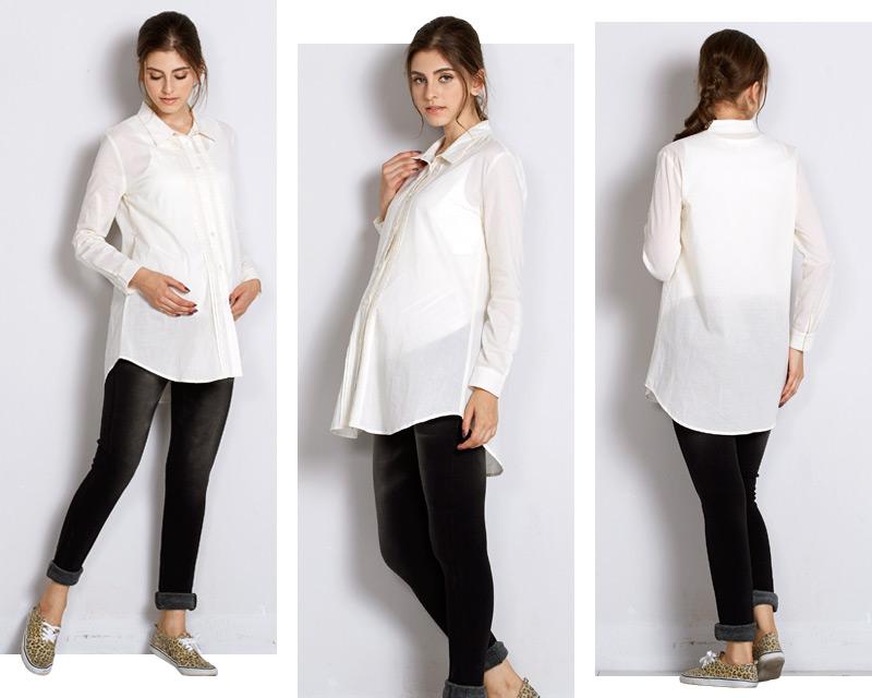 美シルエットで体型カバー!授乳服シャツ