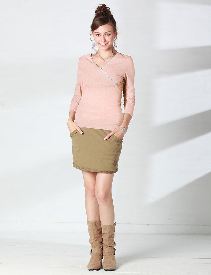 マカロンカラーが可愛い授乳服インナー