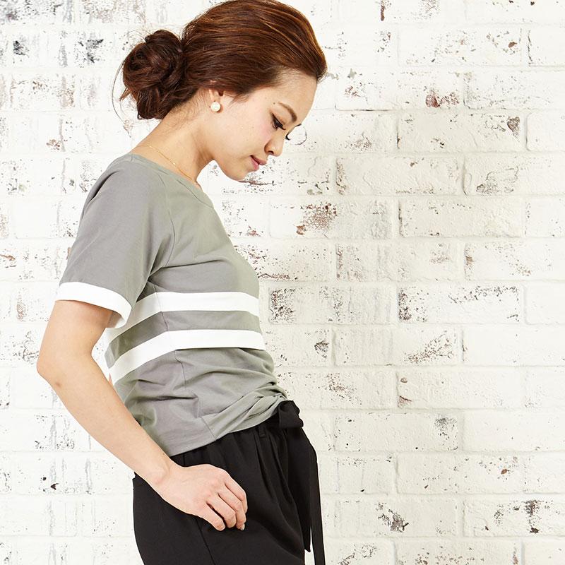 普段使いするからこそ細部までこだわったカジュアル授乳服Tシャツ