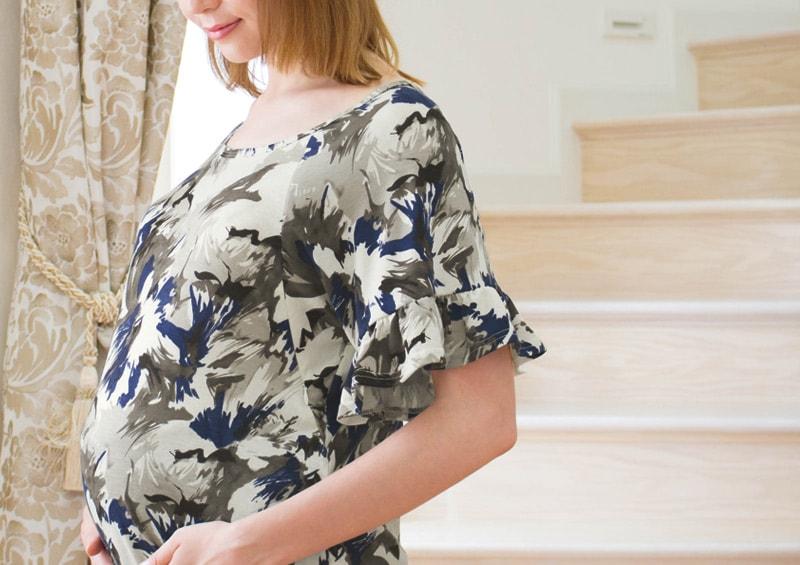 妊婦さんのおなかもすっぽり包むマタニティウエアとしてもおすすめ
