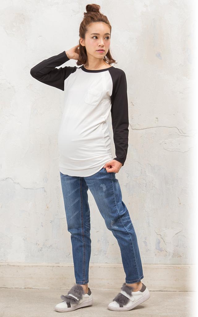 長めのヒップ丈で体系カバー抜群の授乳服