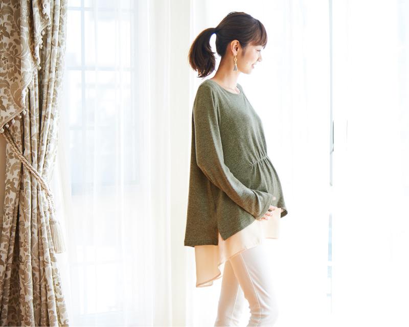 授乳服とマタニティウェアのスウィートマミーがおすすめするレイヤード授乳服
