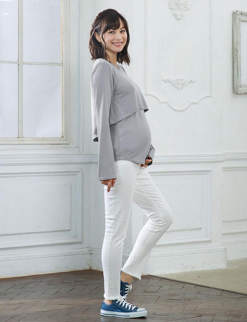 産前産後兼用で使える授乳服トップス
