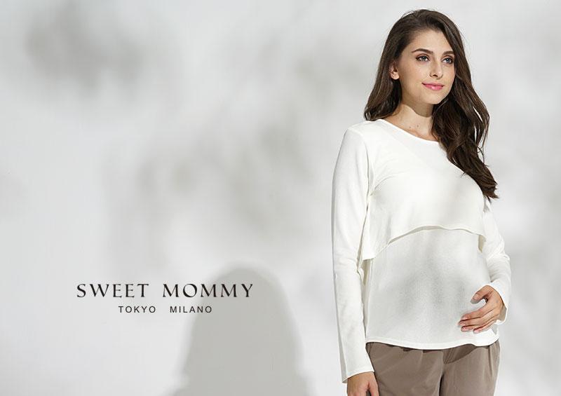 授乳服とマタニティウェアのスウィートマミーがおすすめするシンプル授乳服トップス