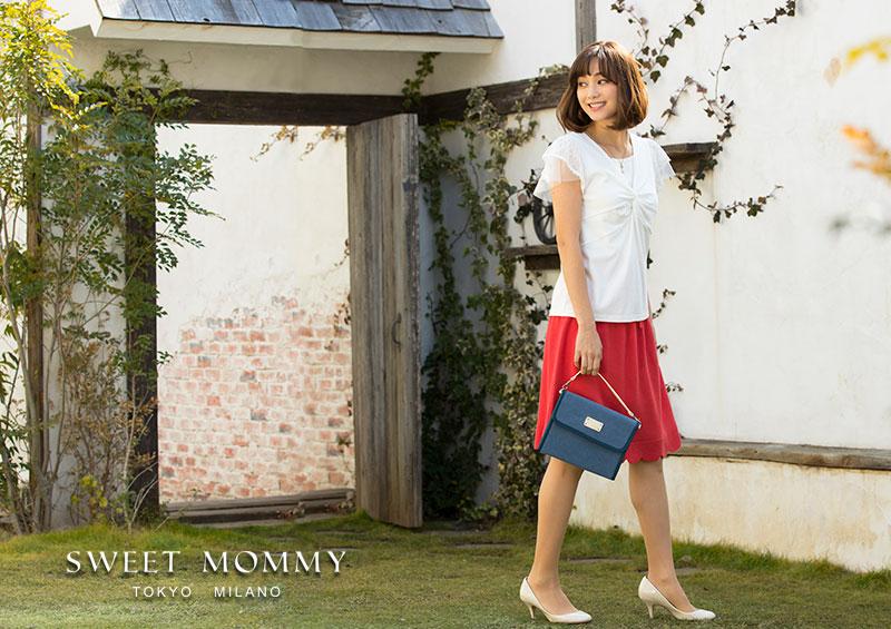 授乳服とマタニティウェア通信販売のスウィートマミーがおすすめする夏チュールレーストップス