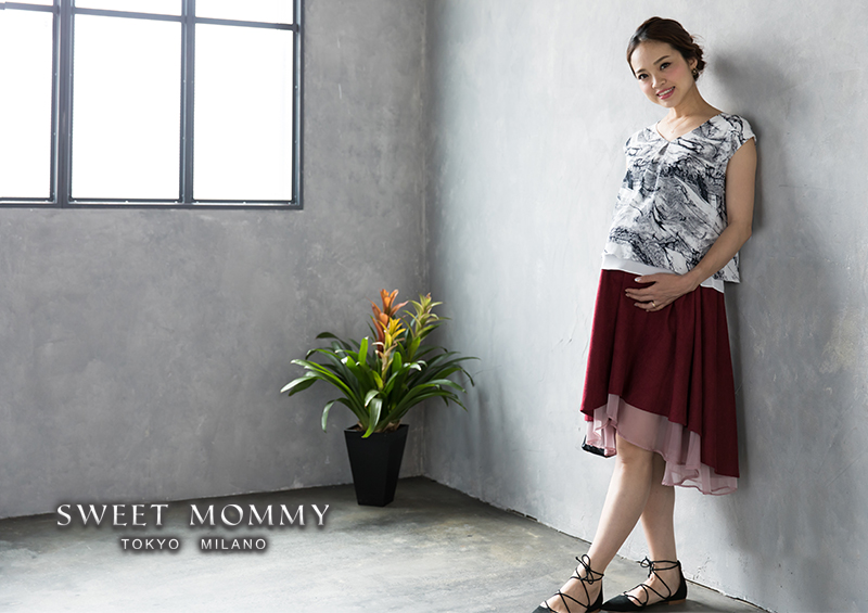 授乳服とマタニティウェアの通信販売スウィートマミーがおすすめするマタニティトップス