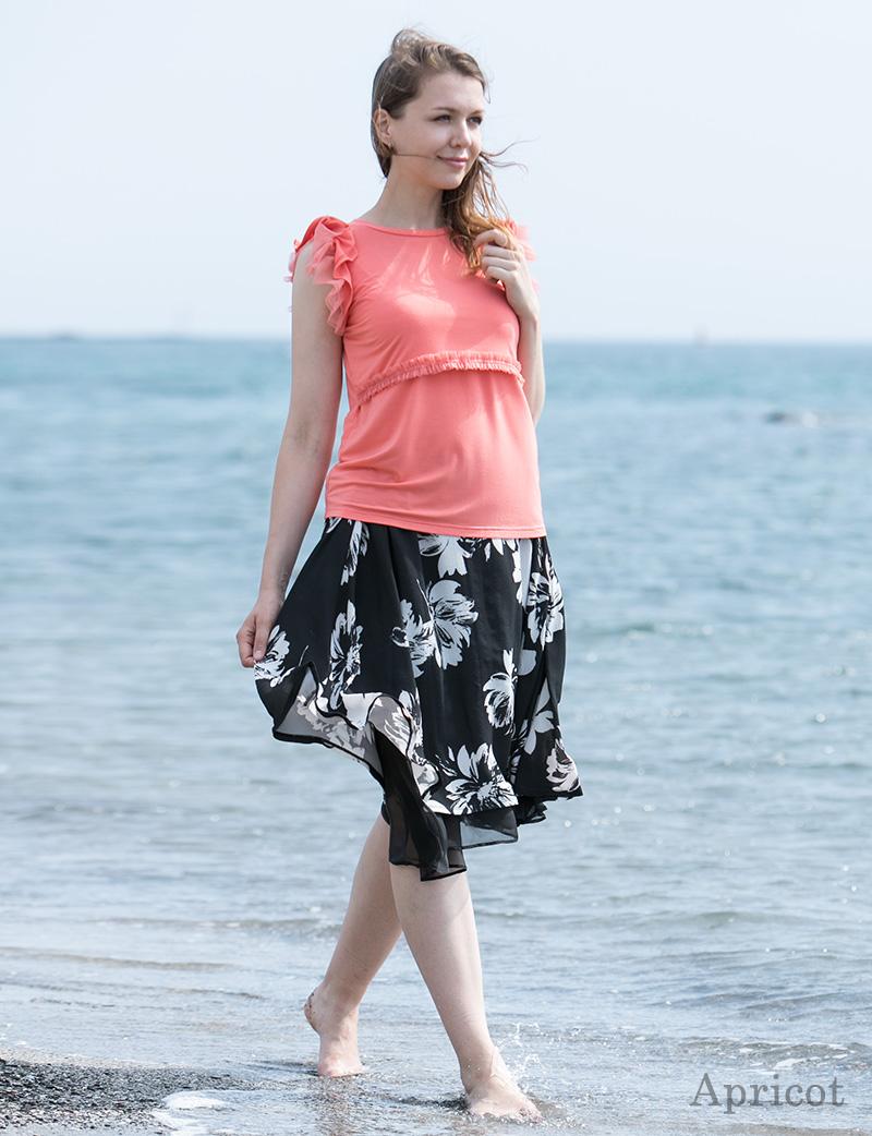 華やかなデザインの授乳服