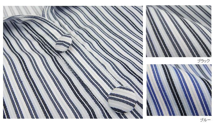 ストライプ柄授乳機能付きシャツワンピース(レディースサイズ)